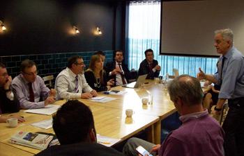 Workshop zum CTF, dem europäischen Rahmenlehrplan Podiatrie mit FIP-IFP-Vertretern aus Belgien, Frankreich, Malta, den Niederlanden, Portugal und Spanien; nicht im Bild sind Deutschland, Finnland, Italien und das Vereinigte Königreich.