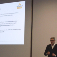 Diplom Betriebswirt Andreas Schaupp informierte eindrücklich über Digitalisierung und Datenschutz und auch über die Strafen bei Zuwiderhandlung